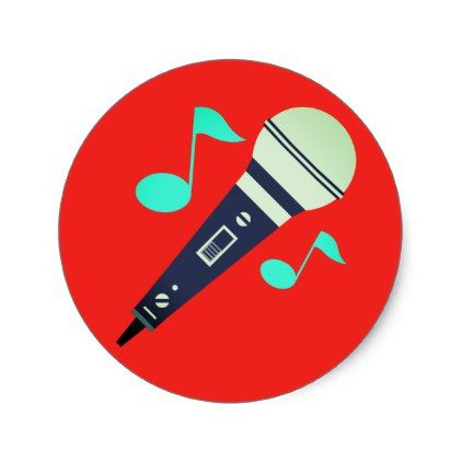 #Musical Microphone Emoji Classic Round Sticker - #emoji #emojis #smiley #smilies