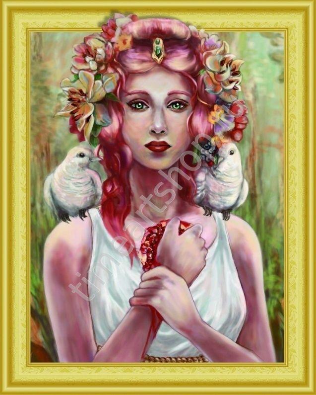 Женщина-это богиня!, картина раскраска по номерам, на ...