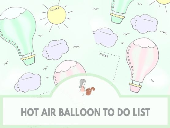Hot Air Balloon To Do List | www.sweetestchelle.com