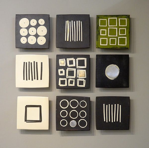 Black And White And Green By Lori Katz. Slab Built Stoneware With Slip,  Underglaze · Ceramic Wall ArtTile ...