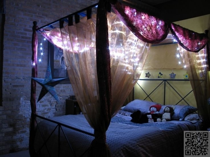 13 Gorgeous DIY Canopy Beds . - Best 25+ Bed Canopy With Lights Ideas Only On Pinterest Bed