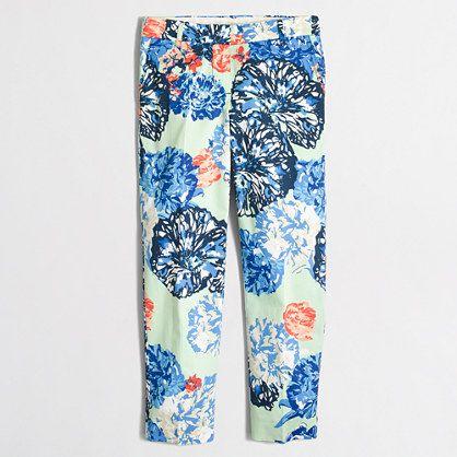 J.Crew+Factory+-+Factory+printed+skimmer+pant
