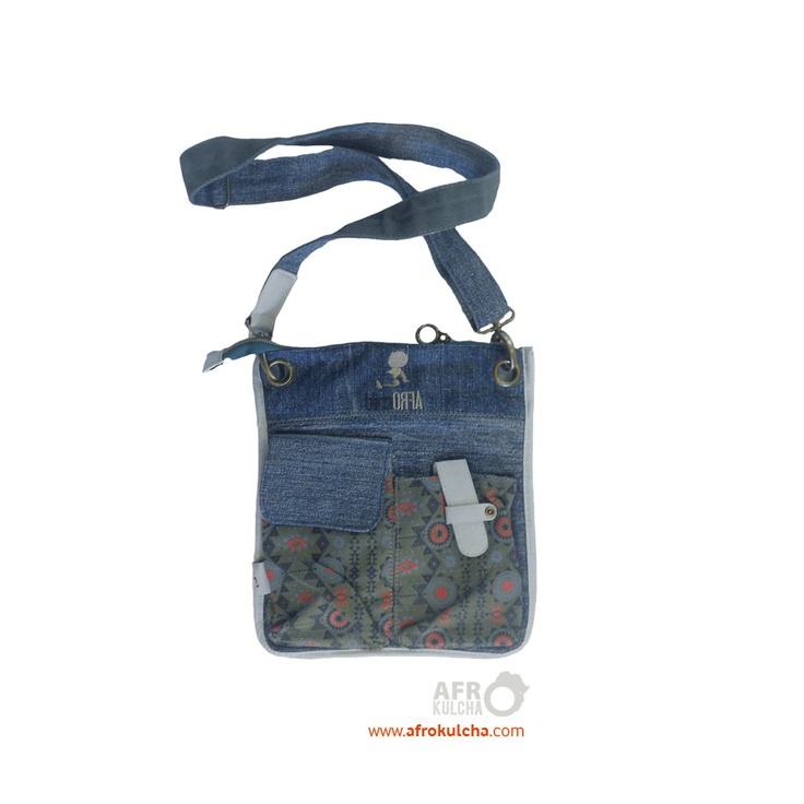 Afrochild label - Denim sling bag