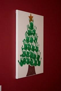 hand print Christmas tree!