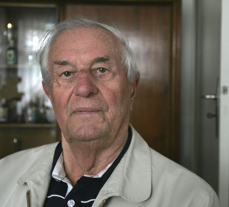 """Rochus Misch (1917-2013) was Adolf Hitler's bodyguard from 1939 until 1945, and he was in the bunker when Hitler committed suicide. He never expressed regret over his wartime service or doubts about """"the boss"""". He was the last survivor of the entourage holed up in Hitler's underground lair. In 2009, his daughter, Brigitta Jacobs-Engelken, an architect who worked to restore synagogues, revealed that her mother Gerda, Misch's wife, was Jewish. Misch refused to accept it."""
