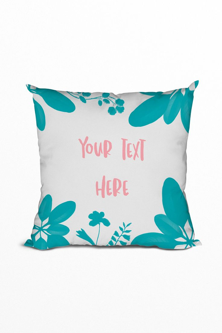 This is the perfect personalised gift for your loved ones who enjoy decorating! Beautiful turquoise and blush pink. #pillow #cushion #livingroom #diy #personalised #inspiration