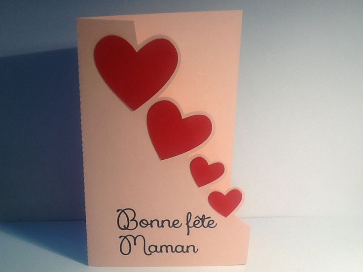 carte fête des mères cascade de coeurs : Cartes par la-petite-seve