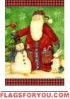Santa's Snowman Garden Flag