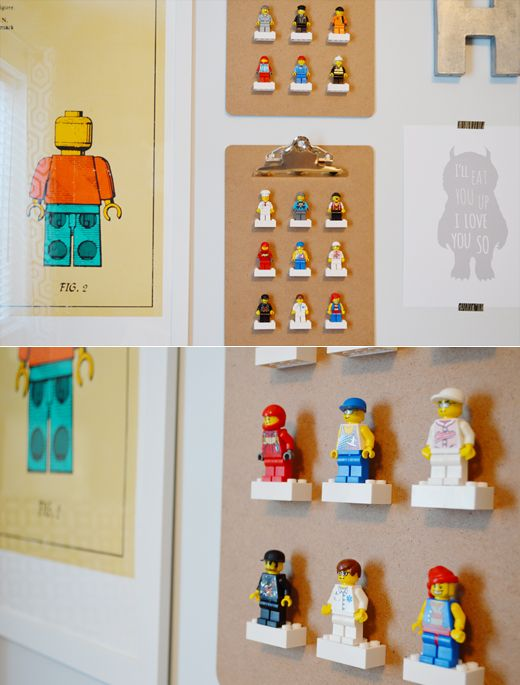 sarah m style: let's get crafty: Lego man display clipboard. part 2.