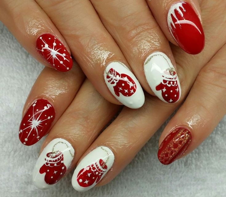 nail design fullcover christmas siebensch n nails. Black Bedroom Furniture Sets. Home Design Ideas