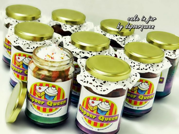 Dapoer Queen:  Rainbow Cake in Jar