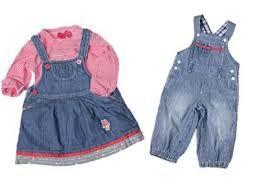 Resultado de imagen para vestidos de jeans para niña 2015