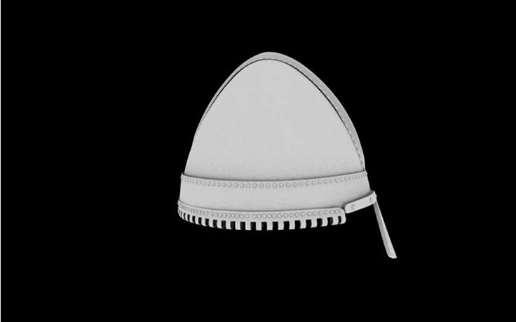 Digital reconstruction of helmet from Bojná, Stromovka -Gnëzdovo type, 9th century, Great Moravia. It is only example of helmet from Great Moravia. https://www.generosity.com/fundraisers/the-helmet-from-bojna