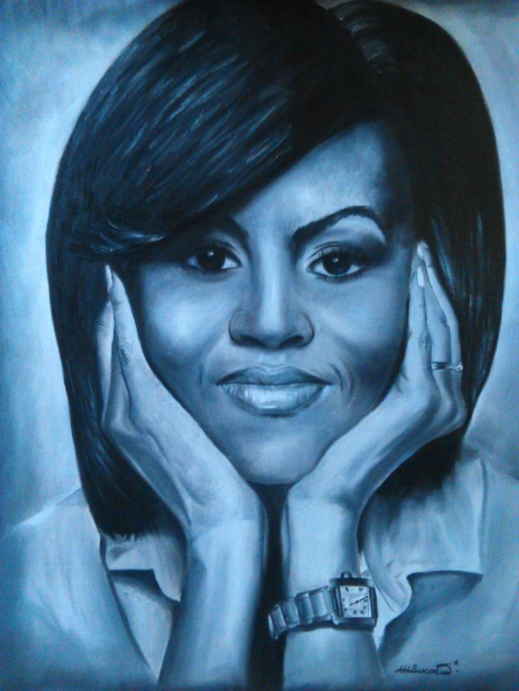 #pic #drawing #painting #oil #michelleobama #firstlady
