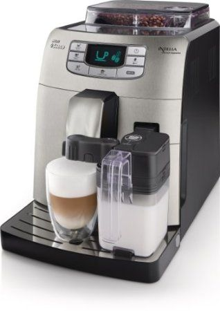 Super automatic espresso machine from Saeco Philips. This machine is a technology wonder. Lattes prepared with the touch of a button.