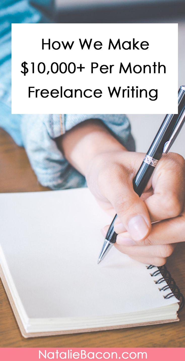 How We Make Thousands Every Month Freelance Writing #freelancewriting #makemoney #makemoneyfromhome #makemoneyonline #nataliebacon