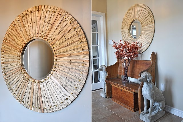 another reason to love school supplies: Diy Ideas, Diy Crafts, Wooden Ruler, Handmade Mirror, Decor Inspiration, Crafty Creative, Ruler Mirror, Wood Ruler, Crafty Ideas