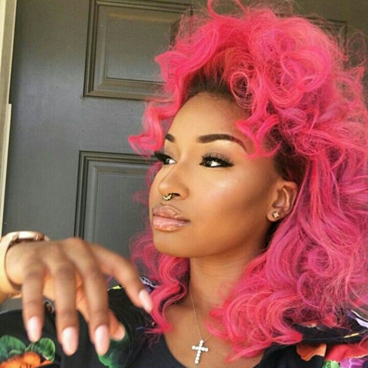 black girl with pink hair inspiration