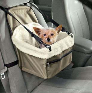Portable Car Pet Booster Seat with Clip-On Safety Leash And Zipper Storage Pocket High Quality Ourdoor Doghouse