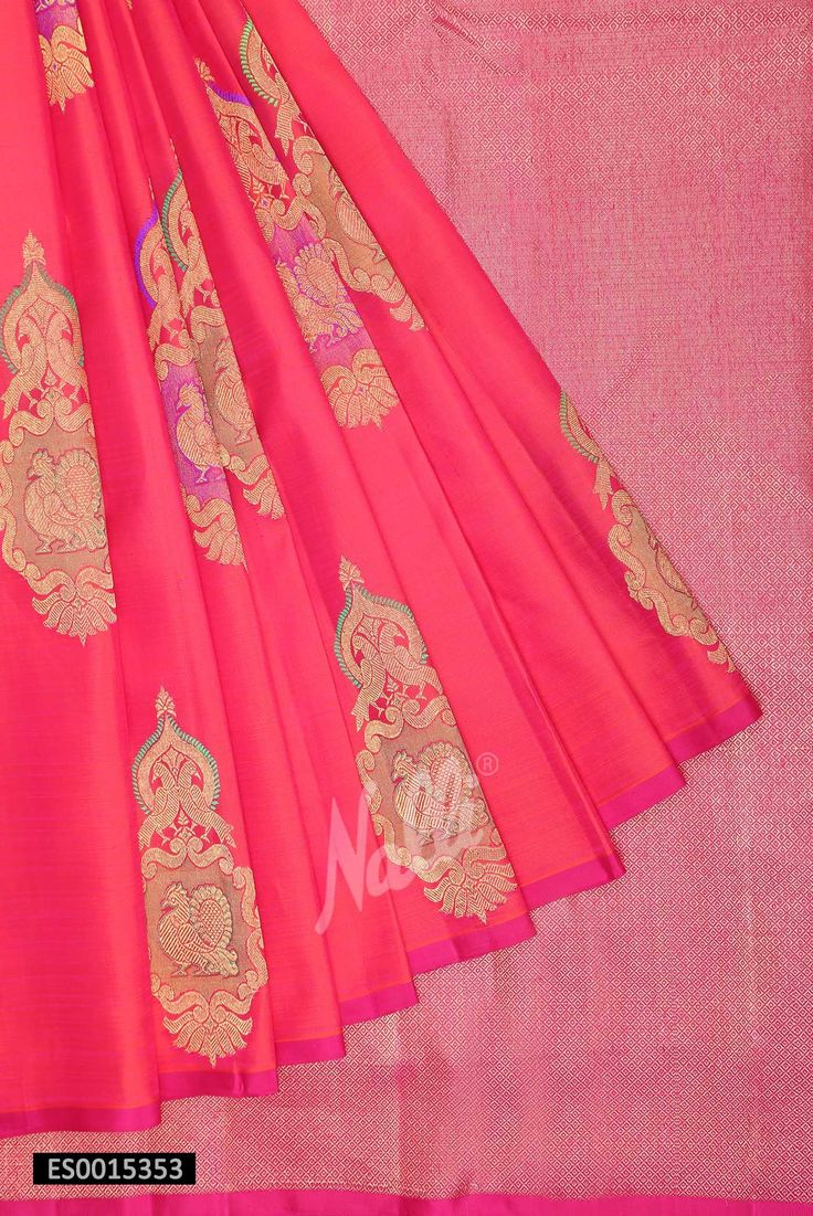 Pink Kanchipuram Silk Saree; with a little added embroidery of stones, or zari this saree is phenomenally beautiful