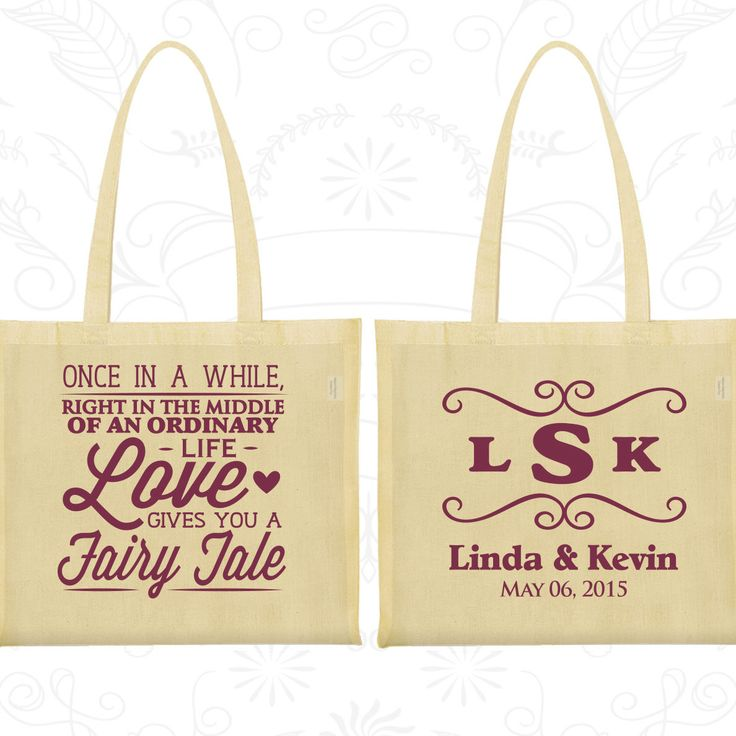 Custom Tote Bags Wedding Personalized