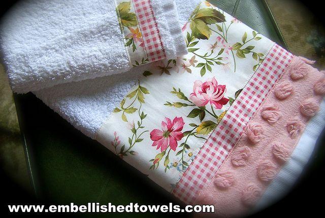 Shabby chic bathroom towels | Flickr - Photo Sharing!