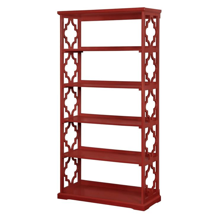 Iohomes Estella 5 Shelf Bookcase Red - Homes: Inside + Out, Rose Essence