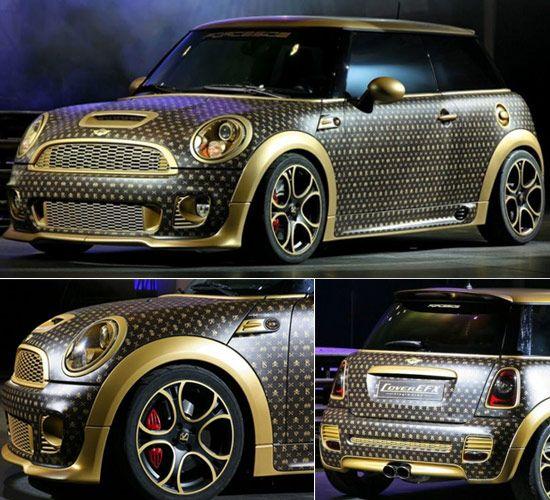 Louis Vuitton-Inspired Custom Mini Cooper  #mini #vuitton