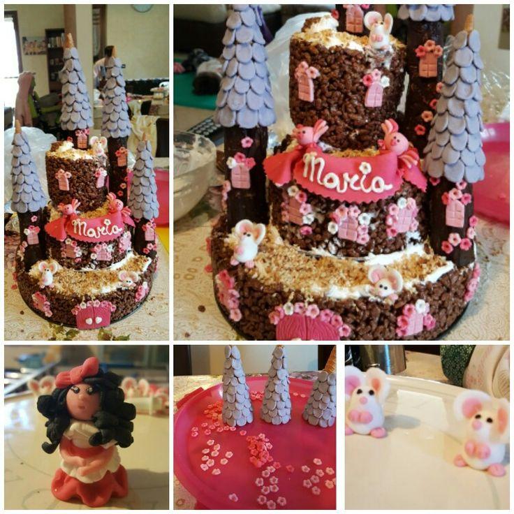 Il castello della principessa Maria - torta al cioccori ripiena al mascarpone, panna e nutella