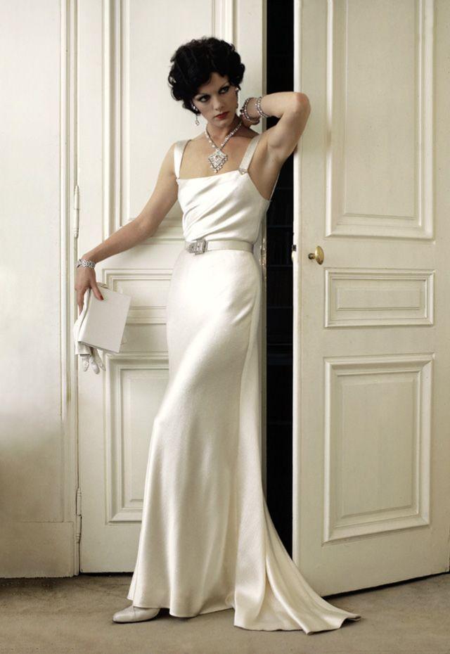 1974 - Yves Saint Laurent costume for Annie Duperrey in 'Stavisky' directed by Alain Resnais