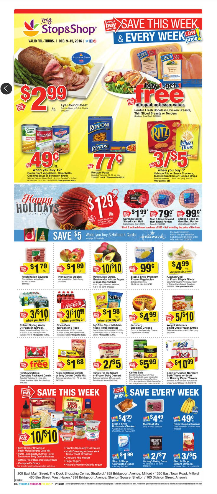 Stop and Shop Circular December 16 - 22, 2016 - http://www.olcatalog.com/grocery/stop-and-shop-circular.html
