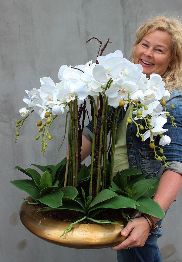 Sehr Schon Gluckwunsch Handgemachte Kunstliche Orchidee Gluckwunsch Han In 2020 Orchid Flower Arrangements Artificial Flower Arrangements Artificial Orchids