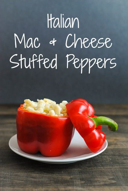Mac & Cheese Stuffed Peppers - Creamy pasta with lots of cheese ...