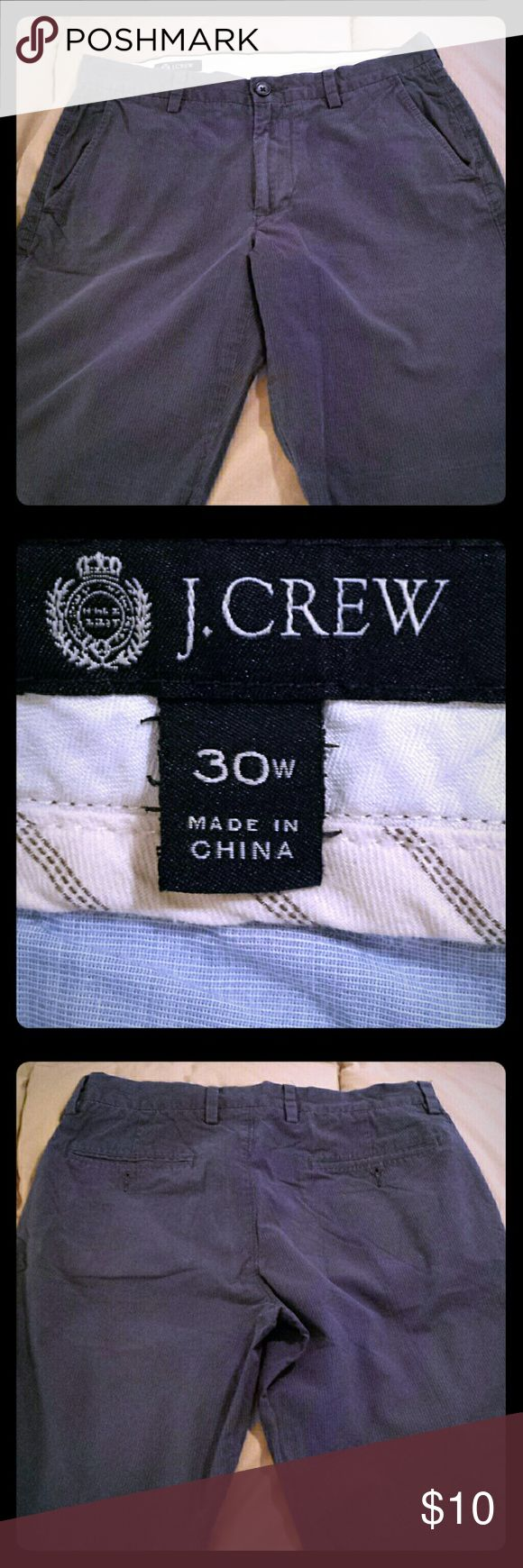 Mens j.crew shorts,size 30, grey pinstripe 10 inch Good condition J. Crew Shorts Flat Front