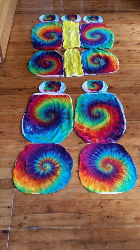 Tie Dye Car Seat Covers For Cars