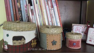 El telar de mi abuela.: cestas