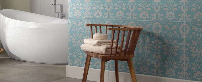 #Delicate #blueandwhite Chérie bathroom tile collection