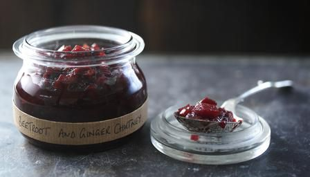 Beetroot and ginger chutney