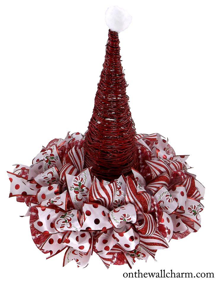 Peppermint Santa Hat Centerpiece Holiday Centerpieces