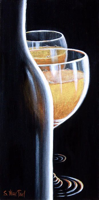"""Well, here you go. All set up for an elegant evening of celebration and...maybe an """"Indecent Proposal"""".  #Sensual #romantic #wine art originals & prints at http://sandi-whetzel.artistwebsites.com/"""