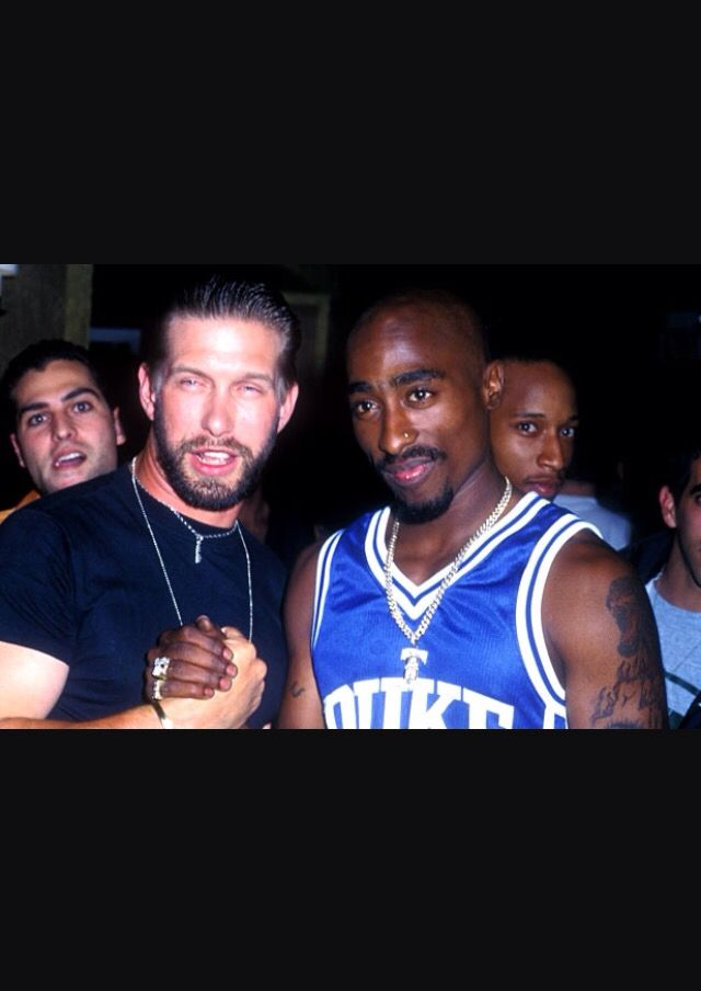 2Pac and actor Stephen Baldwin in 1996.