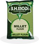 Modi Bajari flour or Millet Flour 500g      Bajari flour or Millet Flour is made from a small round grain resembling mustard seed. Has slight nutty flavor and is a small-seeded species of cereal crops. Millet or Bajra flour is nutritious as it contain iron, magnesium, zinc, vitamin b.  Millet Flour is very good for excellent health and longevity. Itis used in various ways such as a cereal, in soups, for making dense, Roti, chapatti, ajri roti, barja na rotla, breads & many other recipes.