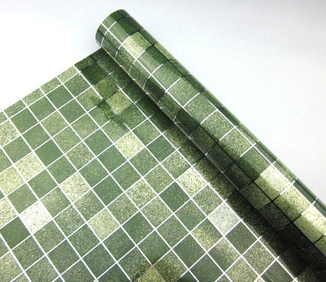 2meters Roll White Vinyl Tile Mosaic Wallpaper Pvc Self Adhesive Kitchen Oil Proof Bathroom Waterproof Wa Wall Stickers Home Decor Mosaic Wallpaper Vinyl Tile