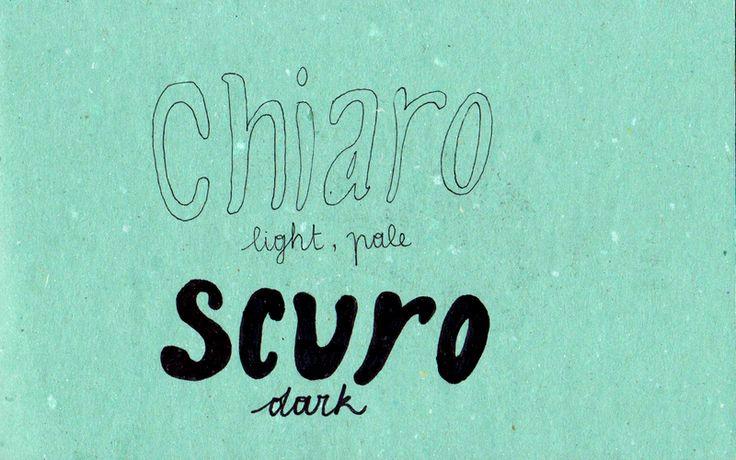Learning Italian - Chiaro / Scuro