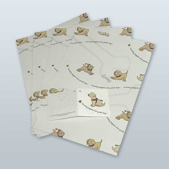 Guide Dog Gift Wrap and Tags - Guide Dogs Queensland