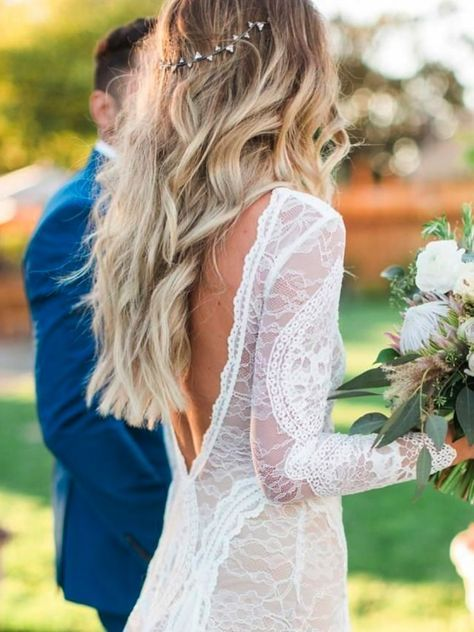 We heart this fancy plait/pony combo wedding hairstyle. Image: Instagram/@wedminau