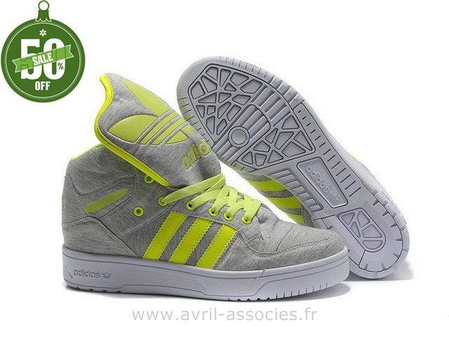 Adidas 2016 - Chaussures de sport Homme et Femme Adidas Originals Metro  Attitude Fashion W - neon vert gris (Adidas Zx Flux Pas Cher)