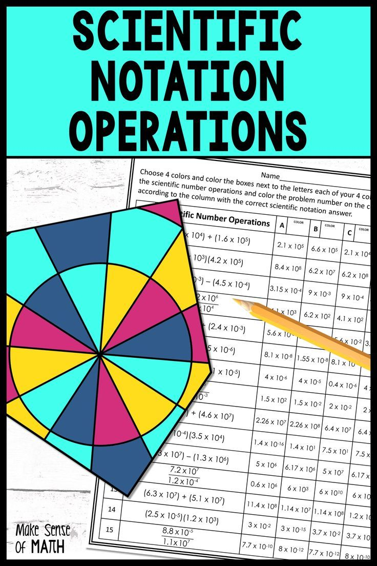 Operations With Scientific Notation Activity Scientific Notation Activities Scientific Notation Operations Maths Activities Middle School [ 1104 x 736 Pixel ]