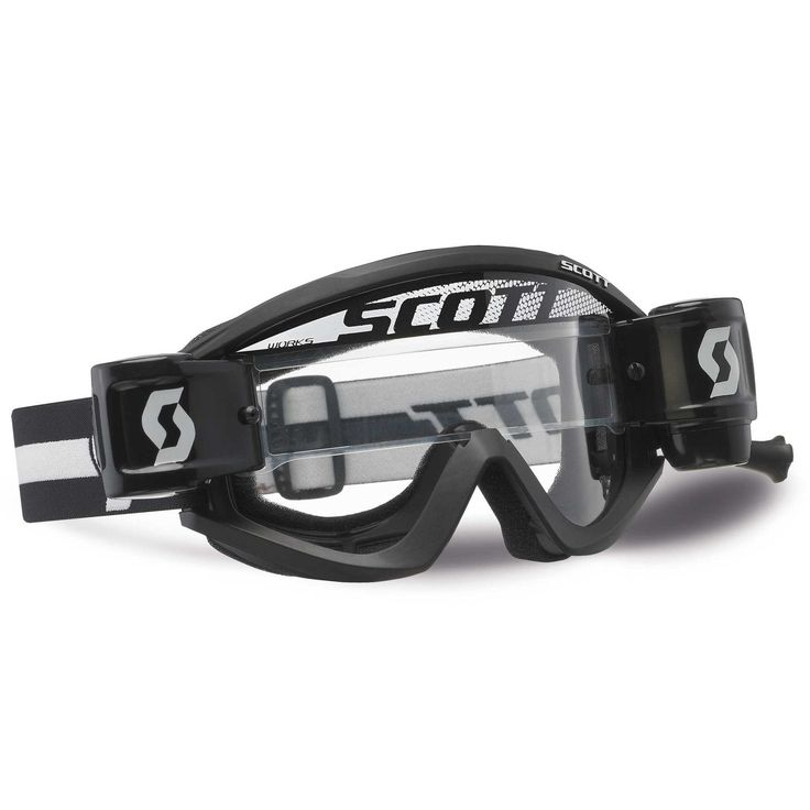 Scott 2014 RecoilXi MX / Motocross Riding WFS Goggles Black / Clear WORKS Lens