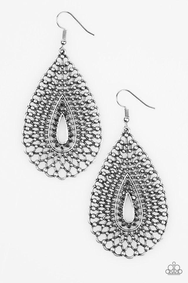 Paparazzi Earrings-Storm Surge-Silver                      – Sam's Paparazzi Accessories